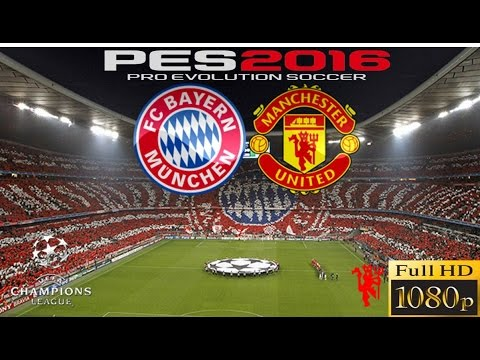 PES 2016 CHAMPIONS LEAGUE BAYERN VS MANCHESTER UNITED – PS4 GAMEPLAY FULL HD
