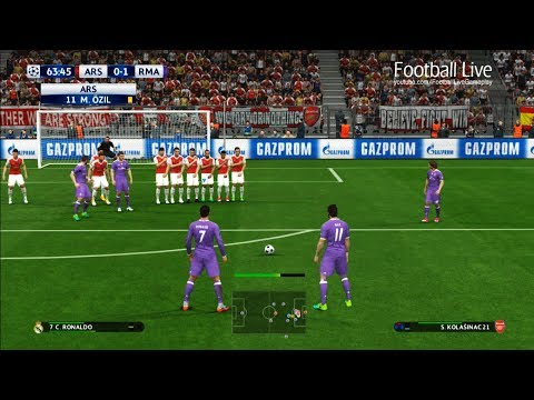 PES 2017 | Arsenal vs Real Madrid | 2 Free Kick Goal Ronaldo, Bale | UEFA Champions League