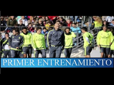 ▶Asi entrena el nuevo Real Madrid de Zidane◀ (Firts Session Training) 2016