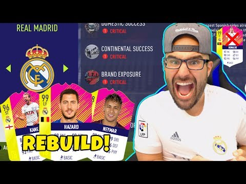 REAL MADRID REBUILD! HAZARD $100,000,000 Transfer!! – FIFA 18 Career Mode