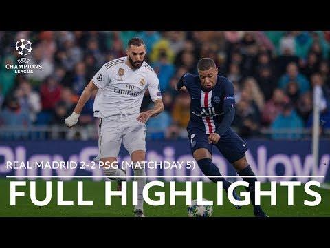 Real Madrid vs. PSG Full Highlights | Champions League 2019-20 Matchday 5