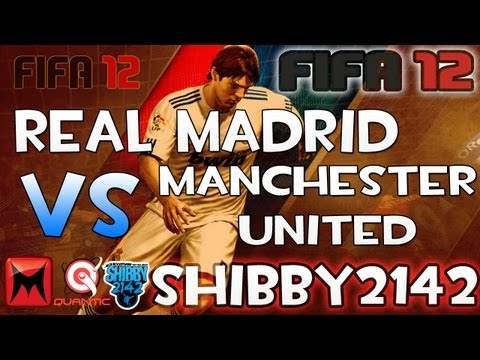 "FIFA 12 Real Madrid vs. Manchester United Gameplay ""Power House Teams!"" Football Dual Commentary"